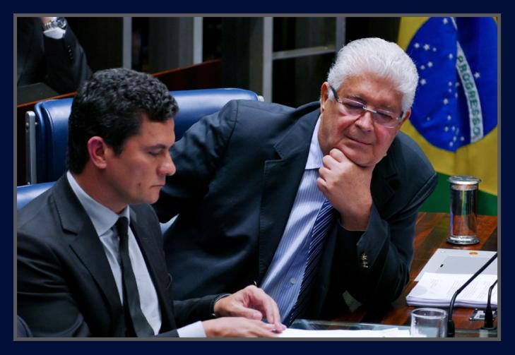 Juiz Sérgio Moro e o senador Roberto Requião  - Foto Orlando Brito
